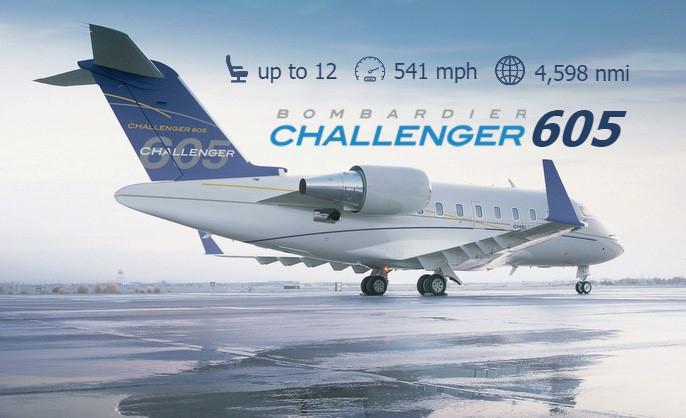 Challenger 605 business jet