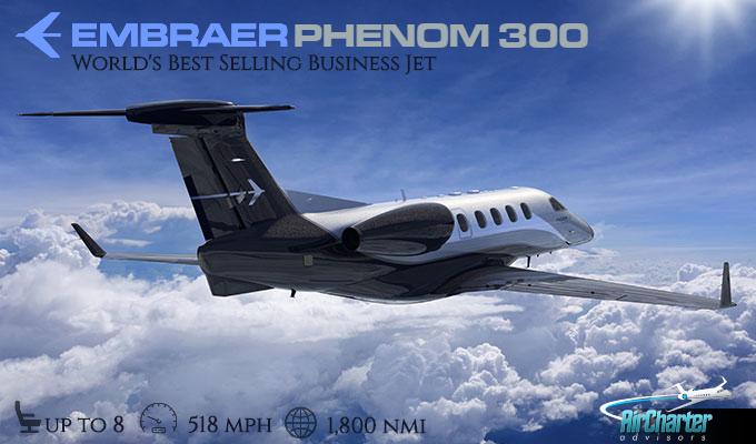 Phenom 300 charter jet