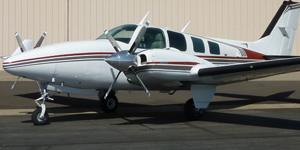 Charter a private flight on a Beech Baron 58