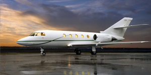 Private jet charter flights on a Falcon 20