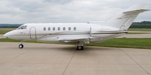 Charter a private flight on a Hawker 1000