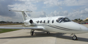 Private charter flights on a Hawker 400 xp