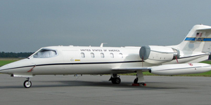 Private charter flights on a Learjet 35