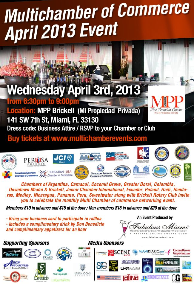 Multi Chamber Event 2013 in Brickell