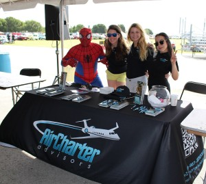 Spider man at Wings and Wheels 2015