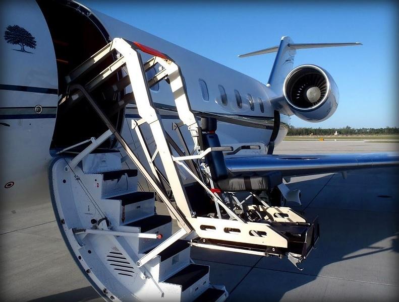 Handicap Bathroom Airplane private charter flights | wheelchair accessibility