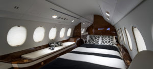 Inside the Falcon 7X cabin