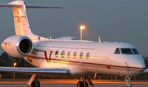 gulfstream v charter plane