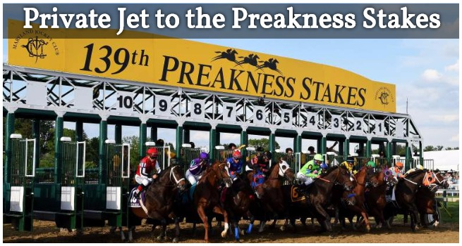 Private Jet to the Preakness Stakes