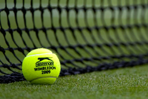 Tennis ball at Wimbledon