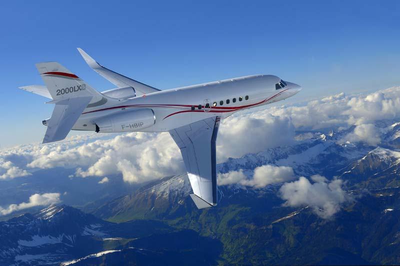 Falcon 2000lxs Private Jet