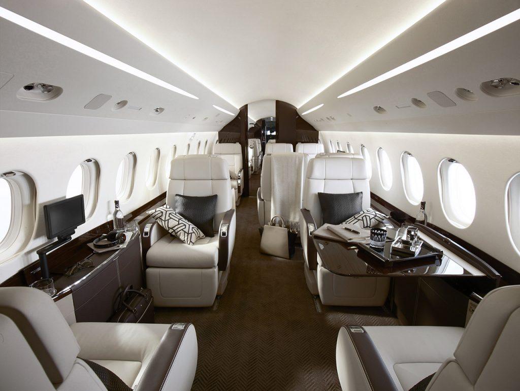 Falcon 2000lxs interior