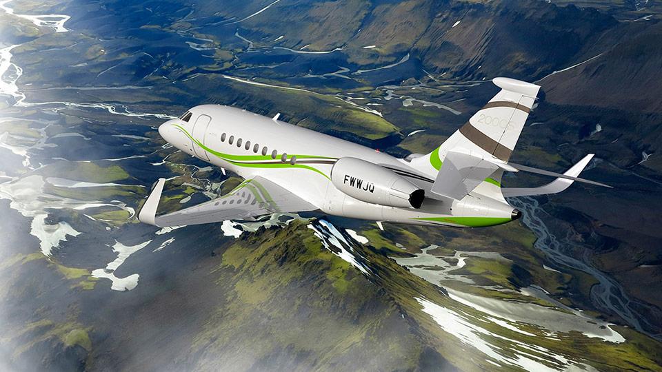 Falcon 2000s private jet