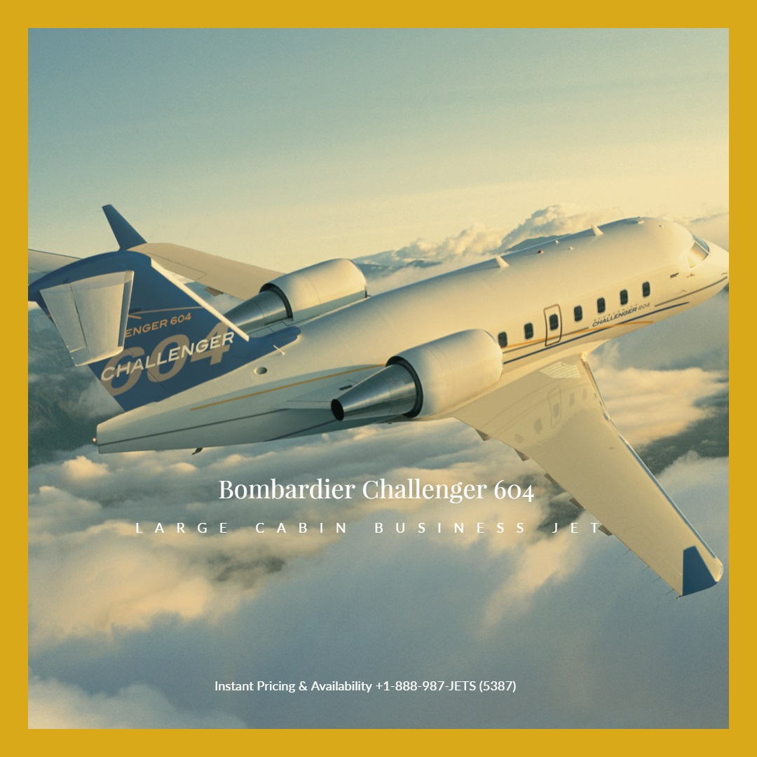 challenger 604 jet charter services