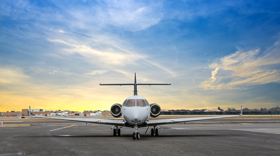 charter a hawker business jet