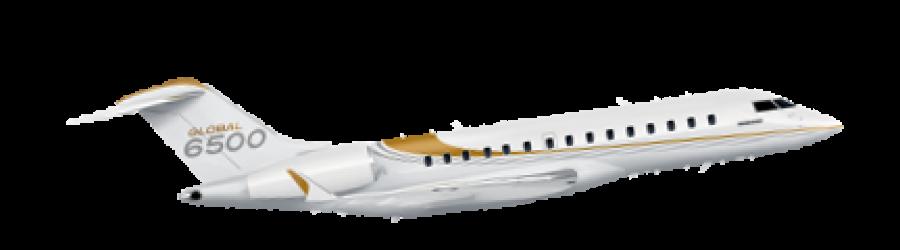 bombardier global 6500 long range jet