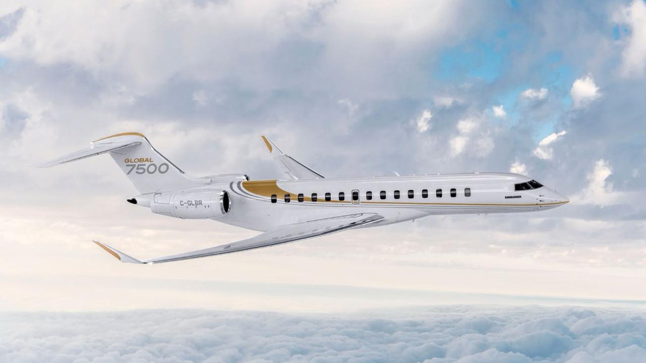Bombardier Global 7500 charter