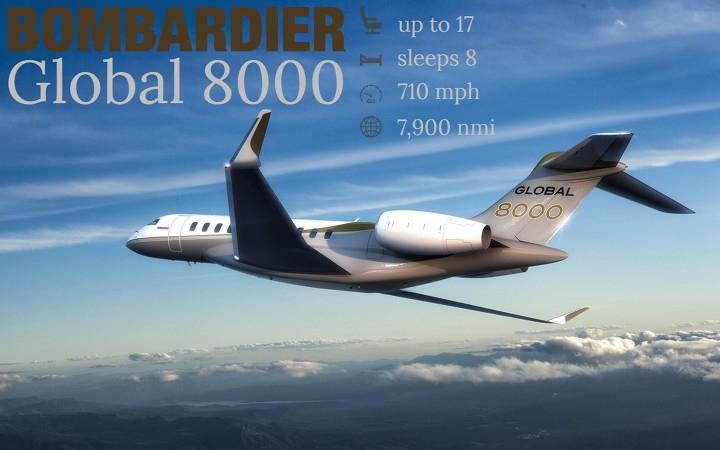 global 8000 charter plane