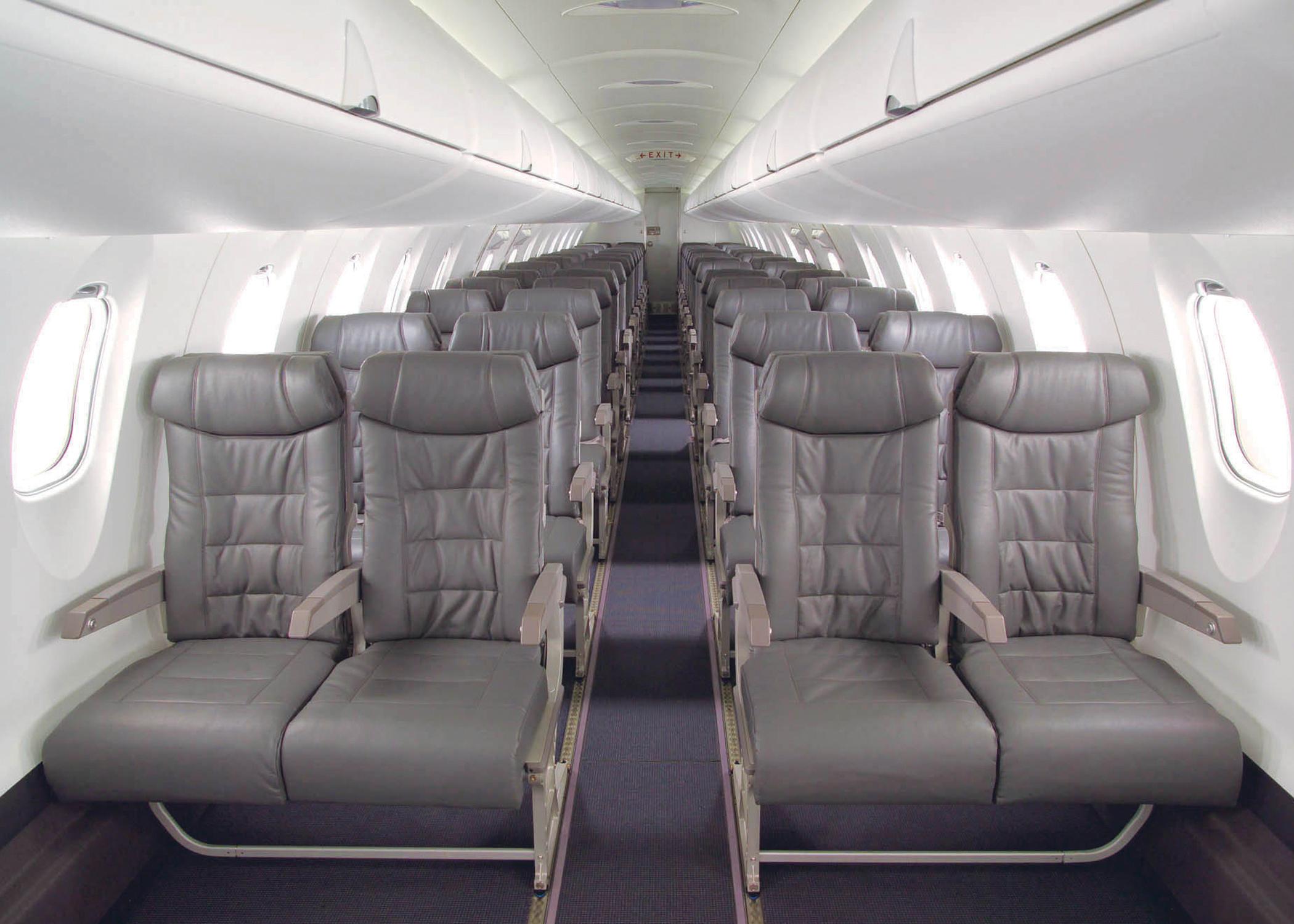 Bombardier CRJ 200 interior cabin
