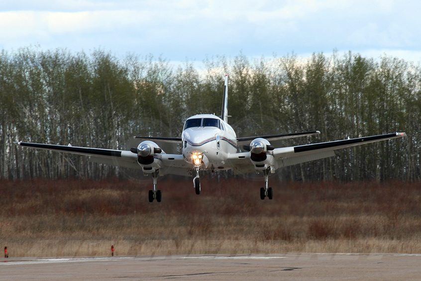 King Air 100 charter services