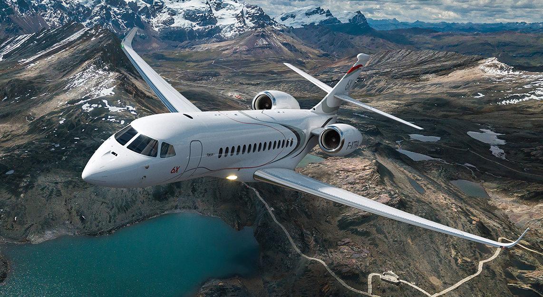 Falcon 6x charter jet