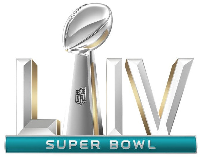 bowl super 2020 liv 54 date time chiefs trophy miami sunday halftime nfl superbowl logo 49ers roman field numerals lombardi