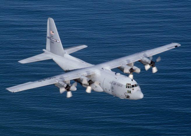 Lockheed C-130 Hercules cargo plane