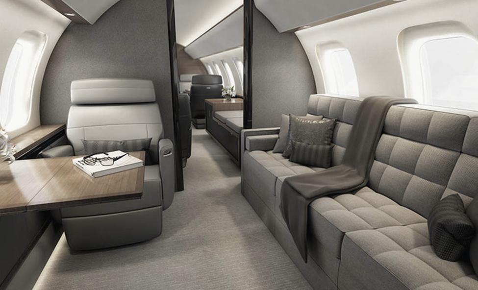 Global 8000 interior