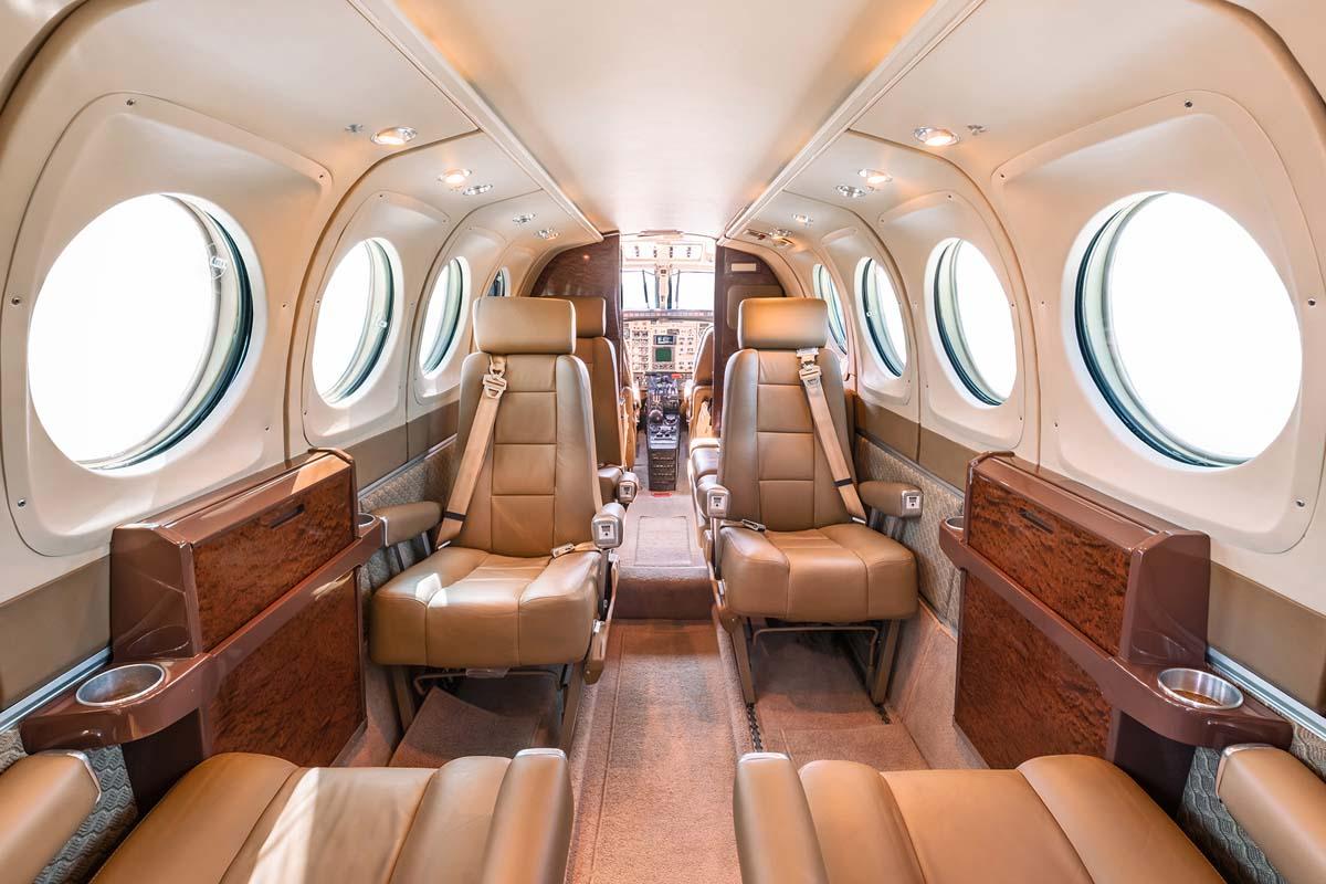 King Air 100 interior